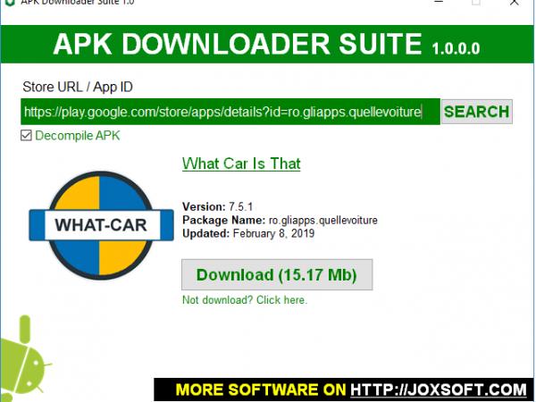 Software for download apk y decompile apk
